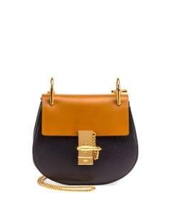Chloe Full Blue/Mustard Mini Drew Bag