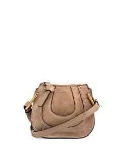 Chloe Motty Grey Suede Hayley Nano Bag