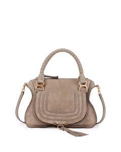 Chloe Motty Grey Suede Marcie Bag