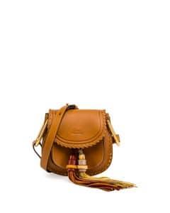 Chloe Mustard Brown Mini Hudson Tassel Bag
