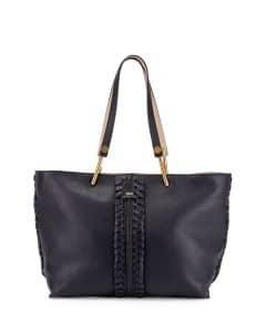 Chloe Navy Medium Keri Tote Bag