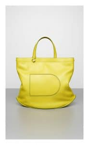 Delvaux Absinthe Allure Pin Cabas Bag