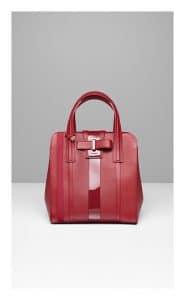 Delvaux Camaieux Rouge de Pourpre Simplissime Tote Bag