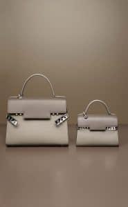 Delvaux Camaieux Tourterelle Tempete GM and Tempete Mini Bags