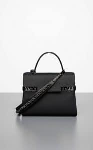 Delvaux Noir Tempete GM Bandouliere Bag