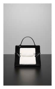 Delvaux Noir/Ivory Smoking Vison Tempete MM Bag