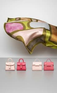 Delvaux Nude and Rose Candy Brillant and Tempete Charms
