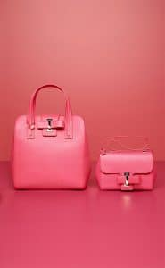 Delvaux Rose Candy Simplissime Tote PM and Simplissime City Mini Bags
