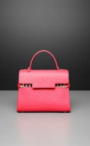 Delvaux Rose Candy Tempete GM Bag