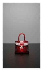 Delvaux Rouge de Pourpre Alligator Hurricane Brillant Mini Bag]