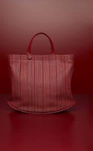 Delvaux Rouge de Pourpre Pin Cabas Bag