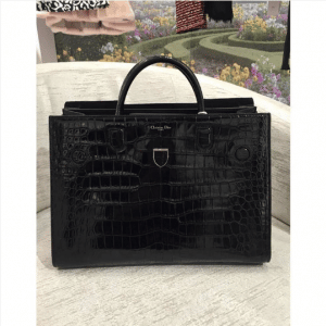 Dior Black Crocodile Diorever Bag