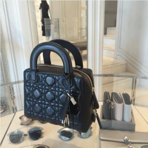 Dior Black Lambskin Lily Bag 2