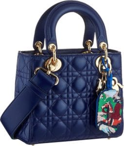 Dior Blue Small Lady Dior Bag