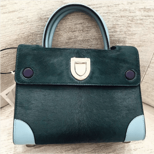 Dior Dark Green Calf Hair Mini Diorever Bag 2