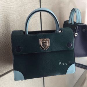 Dior Dark Green Calf Hair Mini Diorever Bag 3
