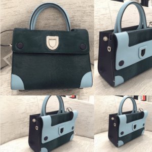 Dior Dark Green Calf Hair Mini Diorever Bag