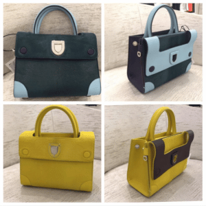 Dior Dark Green and Yellow Calf Hair Mini Diorever Bags