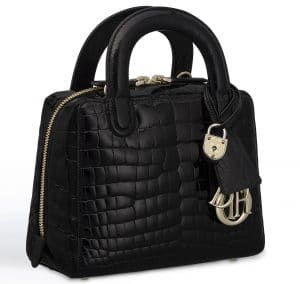 Dior Glossy Black Alligator Lily Bag