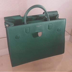 Dior Green Bullcalf Leather Diorever Bag