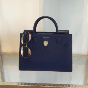 Dior Navy Bullcalf Leather Diorever Bag