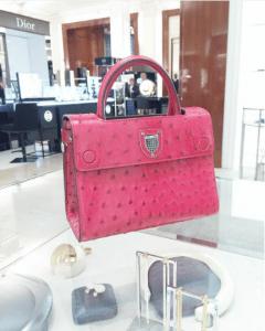 Dior Pink Ostrich Mini Diorever Bag