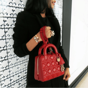 Dior Red Lambskin Lily Bag 2
