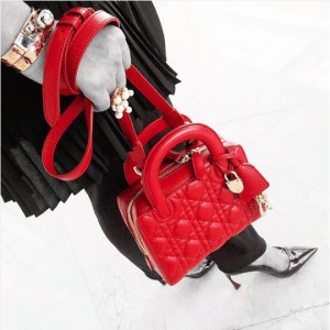Dior Red Lambskin Lily Bag 3