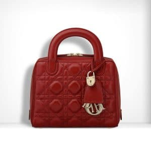 Dior Red Lambskin Lily Bag