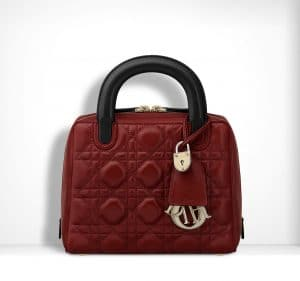 Dior Red/Sapphire Blue Lambskin Lily Bag