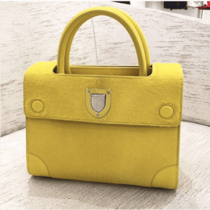 Dior Yellow Calf Hair Mini Diorever Bag