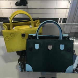 Dior Yellow and Dark Green Calf Hair Mini Diorever Bags