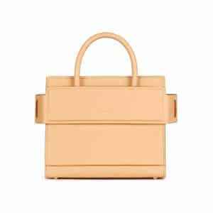 Givenchy Beige Pink Grained Leather Mini Horizon Bag