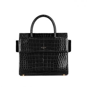 Givenchy Black Crocodile Mini Horizon Bag