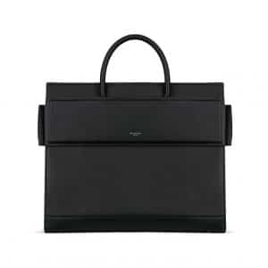 Givenchy Black Matte Smooth Leather Medium Horizon Bag
