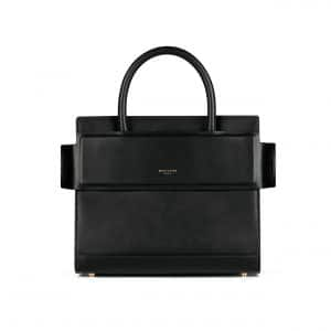 Givenchy Black Matte Smooth Leather Mini Horizon Bag