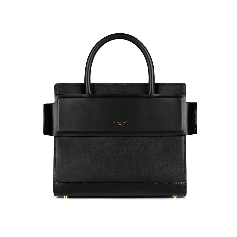 Givenchy Black Matte Smooth Leather Mini Horizon Bag