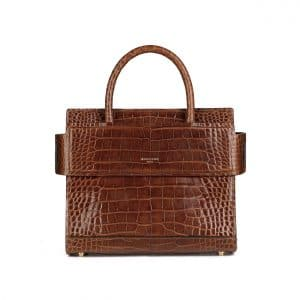 Givenchy Brown Crocodile Mini Horizon Bag