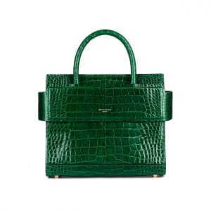 Givenchy Green Crocodile Mini Horizon Bag
