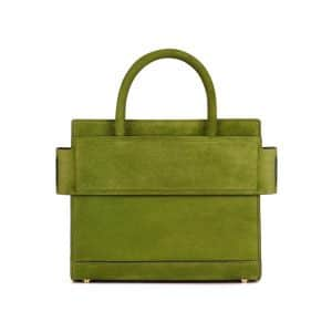 Givenchy Green Suede Mini Horizon Bag
