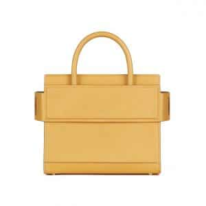 Givenchy Mustard Grained Leather Mini Horizon Bag