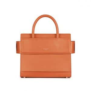 Givenchy Orange Matte Smooth Leather Mini Horizon Bag