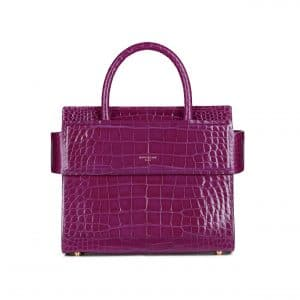 Givenchy Purple Crocodile Mini Horizon Bag