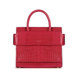 Givenchy Red Crocodile Mini Horizon Bag
