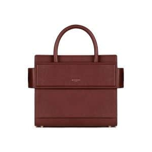 Givenchy Teck Brown Grained Leather Mini Horizon Bag