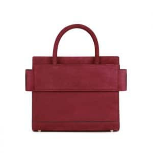 Givenchy Wine Suede Mini Horizon Bag