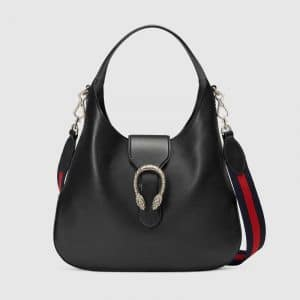 Gucci Black Dionysus Medium Hobo Bag
