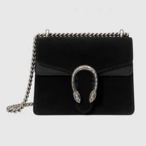 Gucci Black Suede Mini Dionysus Shoulder Bag