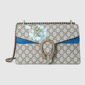 Gucci Blooms Print GG Supreme Small Dionysus Shoulder Bag