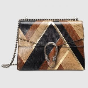 Gucci Brown/Black/Beige Ayers Medium Dionysus Shoulder Bag